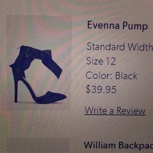 Justfab black heel BNIB